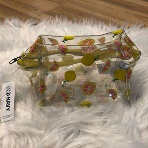 Clear Lemon Cosmetic Pouch